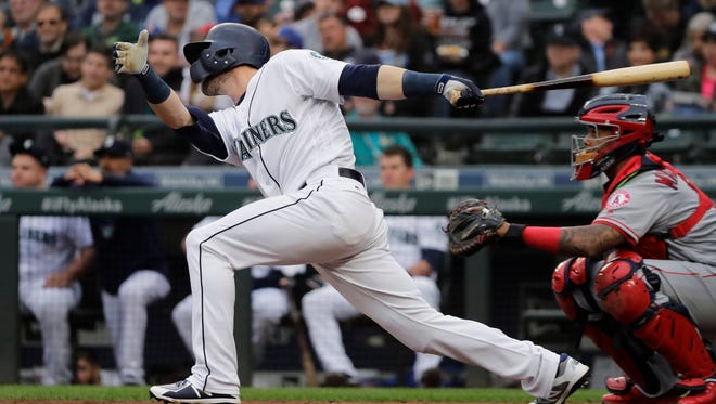 Mitch Haniger hit two home runs and made a spectacular defensive play during Tuesday's win over the Angels at Safeco Field. But what he did earlier Tuesday was even more impressive.
