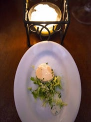 A salmon mousse amuse-bouche at Bistro de Margot in