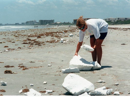 Styrofoam cleanup falls to residents