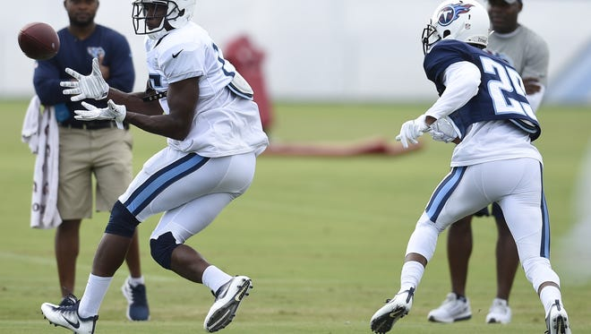 Titans wide receiver Justin Hunter has eight career touchdowns over three NFL seasons.