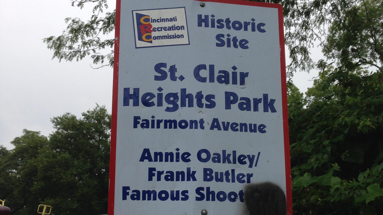 Did Annie Oakley shooting contest happen in Cincinnati?