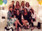 Fergie hangs out with some of her best lady friends