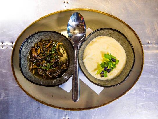 """Seasonal mushrooms """"boscaiola"""" from Mora Italian."""