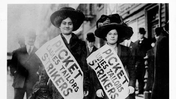 Women picketing during ladies tailors strike