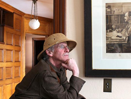 Jackson Gillman impersonates Rudyard Kipling during
