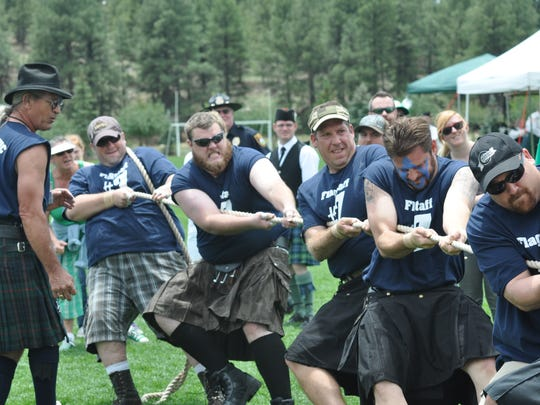 The tug-o-war is one of the popular events at the Arizona Celtic Highland Festival in Flagstaff.