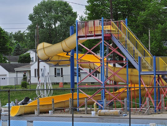 The large slide at Cordell Municipal Pool in Richmond
