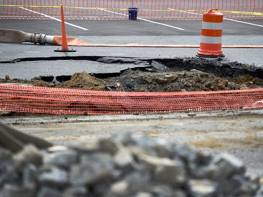 The sinkhole along 422 in N Londonderry Township has