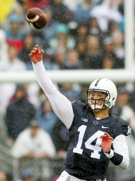 Christian Hackenberg bounced back from a tough showing against Temple to help lead Penn State to a 27-14 win on Saturday at Beaver Stadium. Chris Dunn — Daily Record/Sunday News