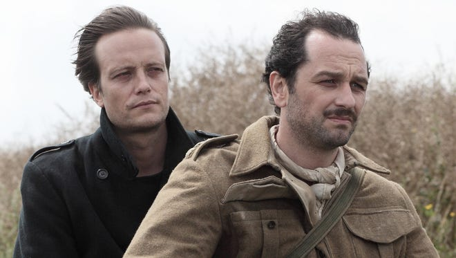 """Percy (Matthew Rhys, right) and Hans (August Diehl) hit the road together in """"Come What May."""""""
