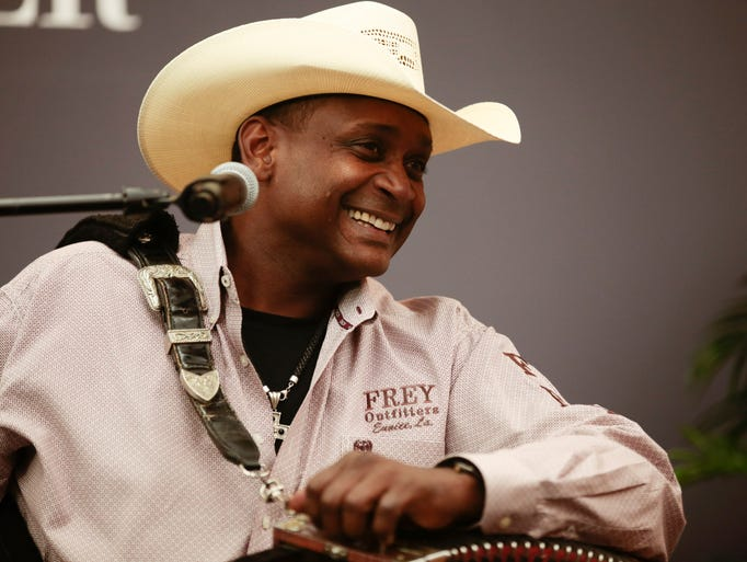 Geno Delafose performs at the Daily Advertiser's Acadiana