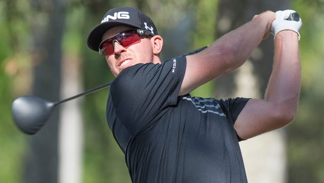 Hunter Mahan drives the ball Saturday (12/12/15),  during the final round of the 2015 Franklin Templeton Shootout at the Tiburon Golf Club at The Ritz-Carlton Golf Resort in Naples.