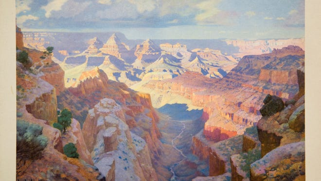 This William R. Leigh painting of the Grand Canyon was used on the menu for the Santa Fe Dining Car in the 1940s and 1960s.