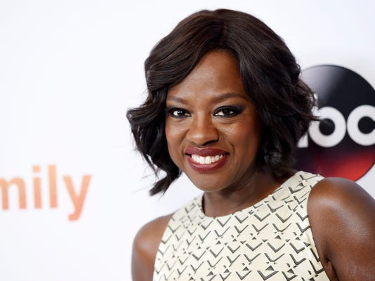 "Viola Davis, a cast member in the television series ""How to Get Away with Murder,"" poses at the Disney ABC Television Group party during the 2015 Television Critics Association Summer Press Tour at the Beverly Hilton on Tuesday, Aug. 4, 2015, in Beverly Hills, Calif."