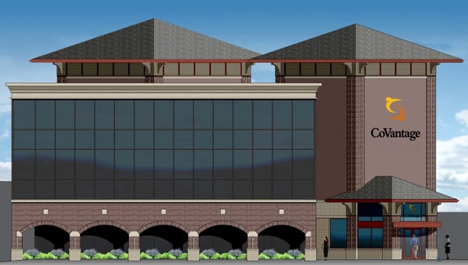 An artist's rendering of the new CoVantage building following the renovation project.