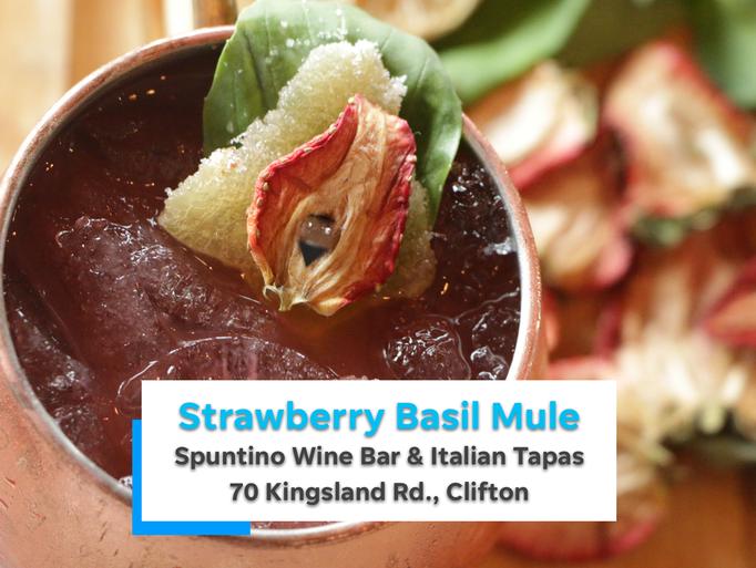 Spuntino's Strawberry Basil Mule, a nonalcoholic version