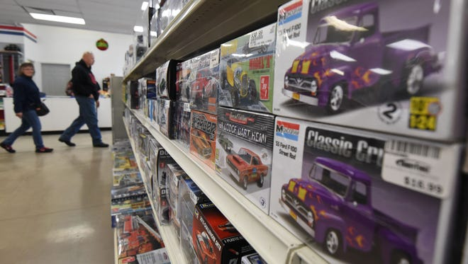 Shoppers browsed the aisles of HobbyTown on Friday during their grand opening celebration and ribbon cutting.