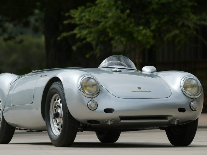 "Back in 1954 when Lew Bracker met James Dean, Warner Bros. wasn't letting Dean ride motorcycles. Bracker's new memoir ""Jimmy & Me"" recalls how the close friends instead shared a love of cool cars. This Spyder is similar to the Porsche Spyder 550 Dean was driving in his fatal crash in September 1955."