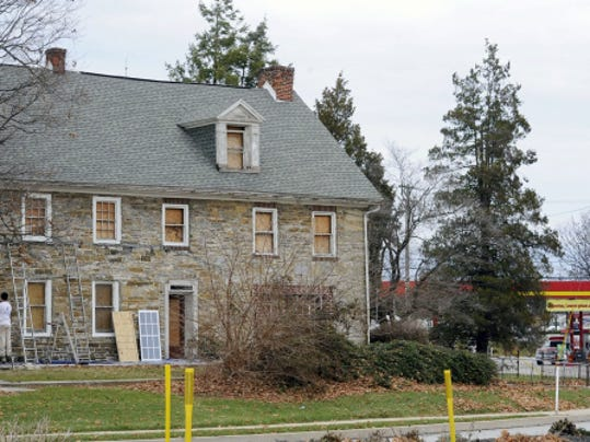 This Dec. 1, 2014, York Daily Record file photo shows the state of disrepair the Hoke House was in before the Friends of the Hoke House reached a deal allowing them to bring the house up to code.