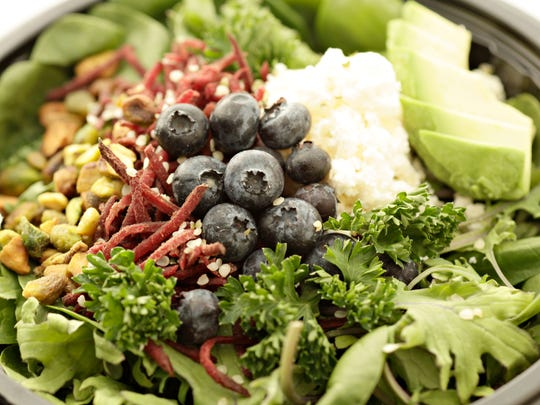 Grabba Green features salads packed with fresh ingredients.
