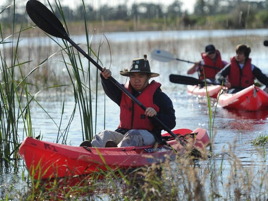Knowledgeable volunteers lead kayak tours of Savannas Preserve State Park in Port St. Lucie.
