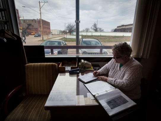 Fifty-three-year-old Annette Lucas works at the Clinton