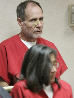 Phillip Garrido and his wife, Nancy, are seen during a bail hearing, on charges related to the 1991 abduction of Jaycee Dugard,  at the El Dorado County Superior Court in Placerville, Calif., Monday, Sept. 14, 2009.  Phillip Garrido, who faces 29 charges was given a $30 million bail but will continue to be kept in custody on a parole hold.  Nancy Garrido, who faces the same 29 charges, will continue to be held without bail.