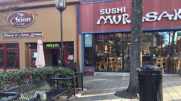 The Orient and Sushi Murasaki are two restaurants in downtown Greenville.