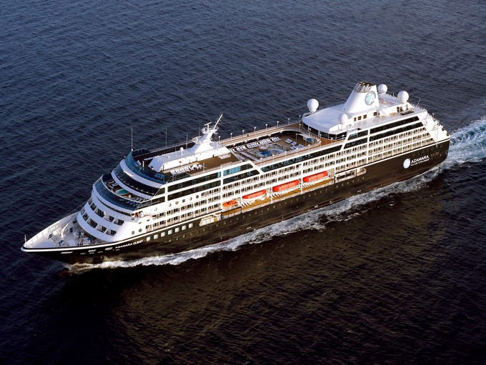Built in 1999 for Renaissance Cruises, Azamara Club