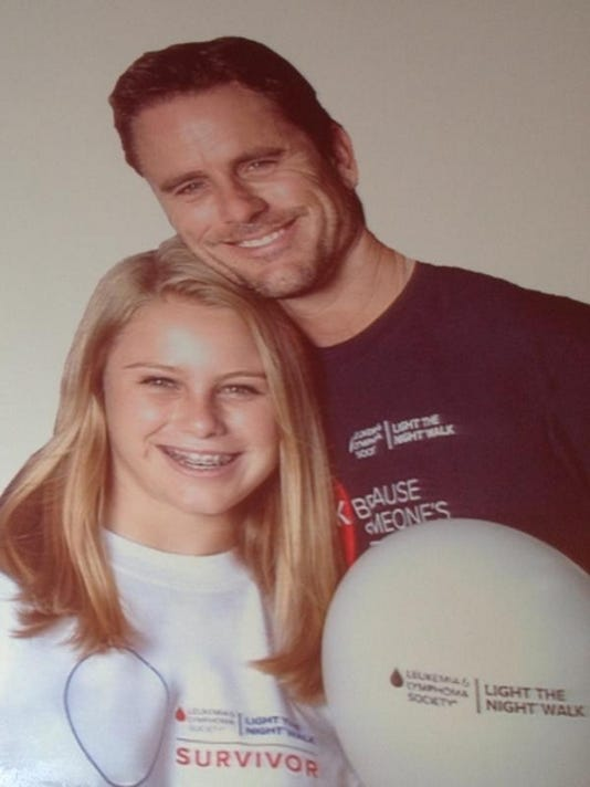Charles Esten and daughter Addie.