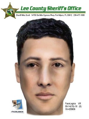 Composite sketch of a man authorities say posed as a police officer and sexually battered a woman in her Bonita Springs home.