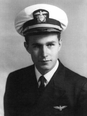 Former President George H.W. Bush in World War II