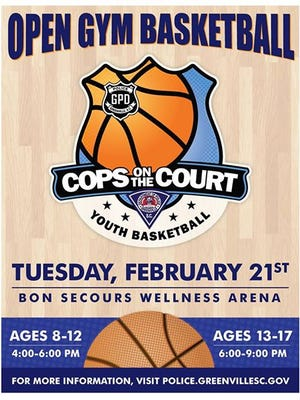 GPD hosts Cops on the Court Tuesday evening at Bon Secours Wellness Arena.