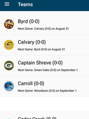 Keep track of your favorite schools' schedule and scores