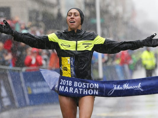 122nd Boston Marathon, USA - 16 Apr 2018