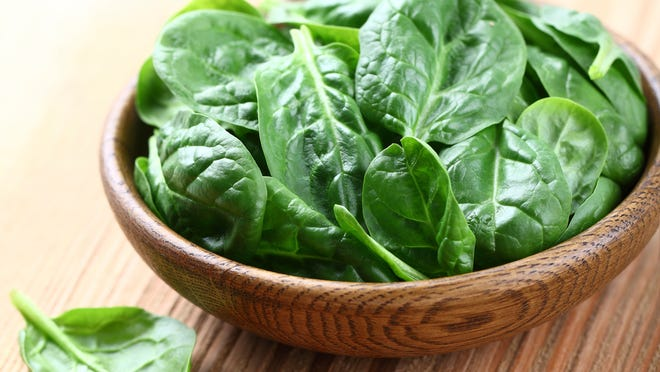 Potassium rich foods like spinach help lower blood pressure.