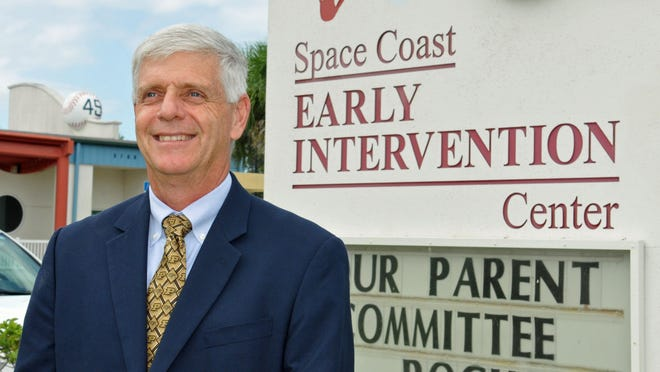 Jim Clamons, a vice president of engineering at Harris Corp., does a lot of work for Space Coast Early Intervention Center in Melbourne.