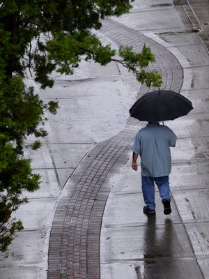 Thunderstorms are possible this afternoon in southern lower Michigan, including the Lansing area, as cooler air moves into the state, the National Weather Service said.