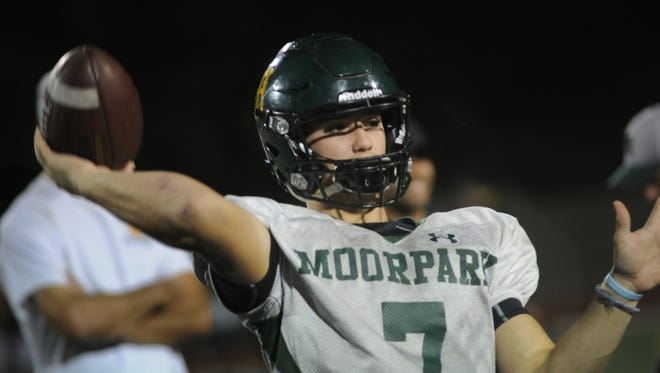 Quarterback Tyger Goslin's high school career ended Friday night in Moorpark High's playoff loss to Ventura, but he plans to go on to play at the U.S. Naval Academy.