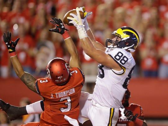 TE: Jake Butt, Michigan, senior. Had 51 catches for