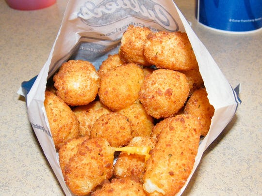 Fried cheese curds, a Wisconsin staple, is a new food