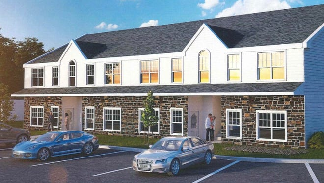 Casterline LuxuryTownhouses as seen in drawings presented to Denville officials by Glenmont Commons in December..