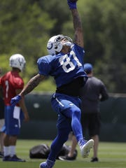 Among the Colts to keep an eye on at training camp: Wide receiver Brian Tyms.