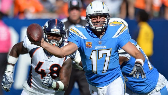 Chargers quarterback Philip Rivers threw for only 183 yards, but two touchdowns in Week 7 against the Broncos.