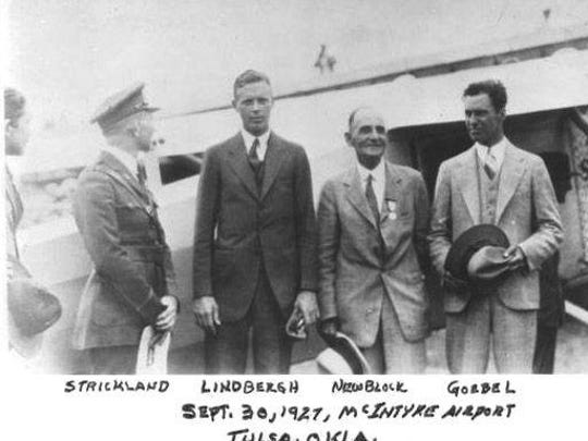 This photo of Charles Lindbergh was taken the same