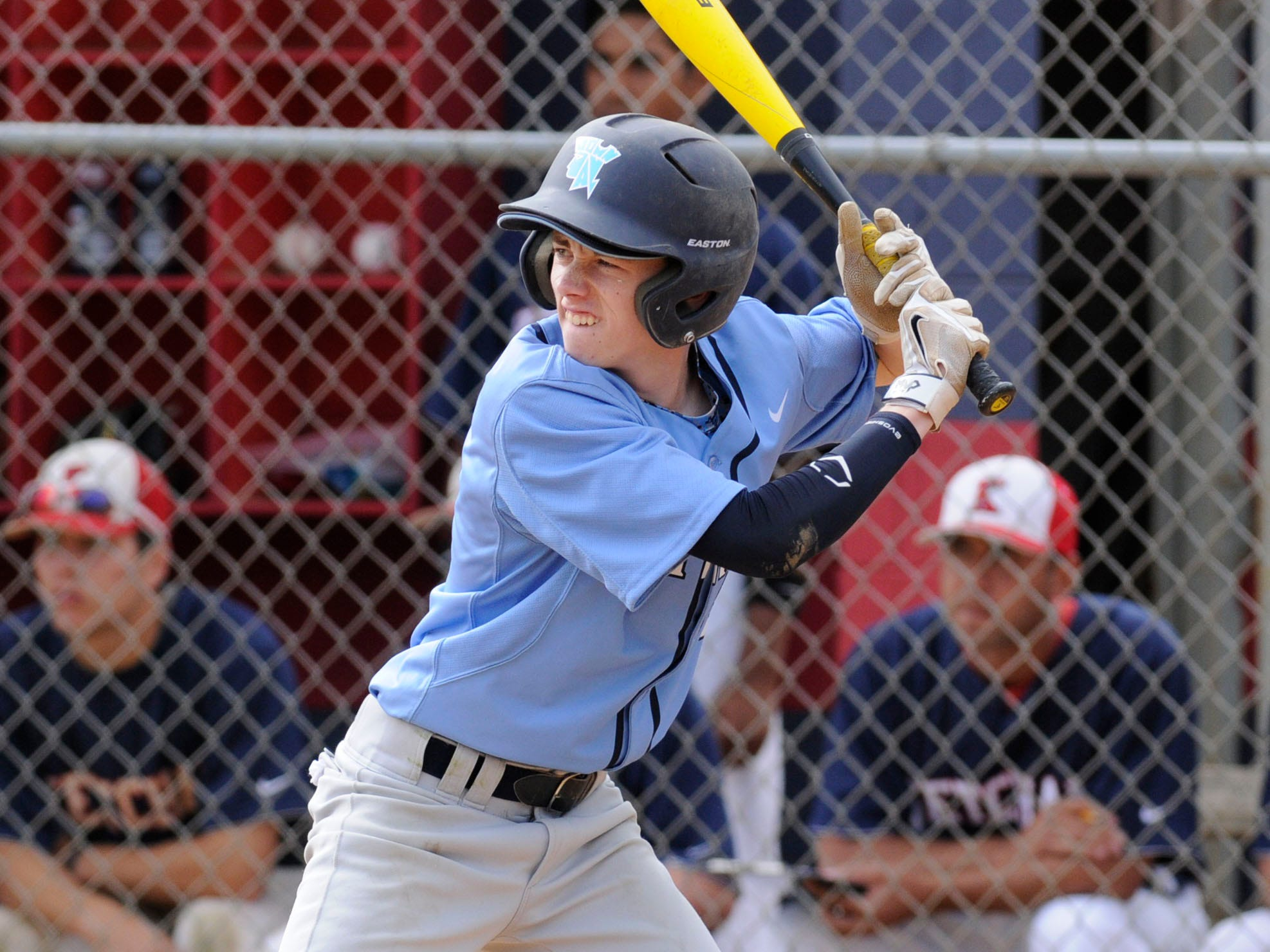 John Jay High School's Mike Attebery waits for the pitch in Thursday's game against Roy C. Ketcham High School.