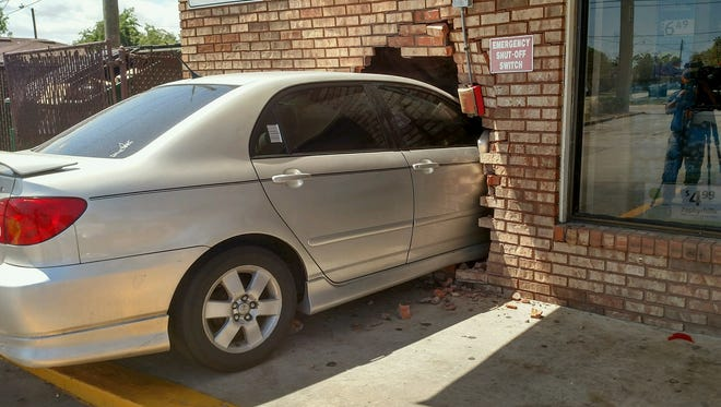 A car crashed into the 7-Eleven on Clearlake Road in Cocoa March 27, 2018.
