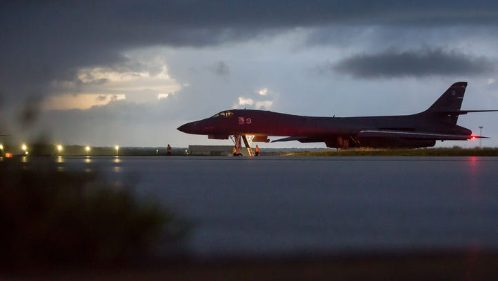 A U.S. Air Force B-1B Lancer, assigned to the 37th