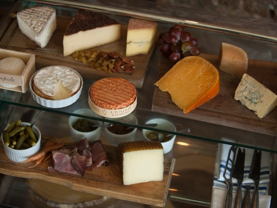 A view of the cheese cart at Baril in Philadelphia.  04.12.17