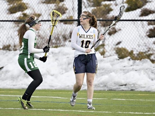 Wilkes College senior Carley Smith holds the program records for career assists and points. The Dallastown graduate needs three goals to become the program's all-time goal scorer.